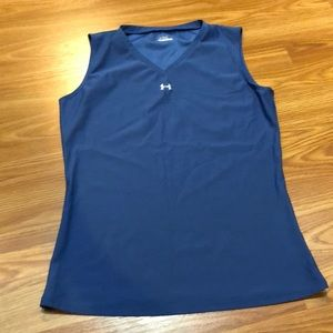 Sleeveless Under Armour workout shirt